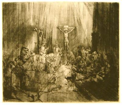 spotlight essay rembrandt van rijn kemper art museum rembrandt van rijn the three crosses 1660 61