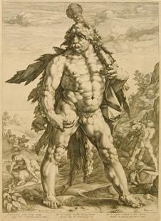 Hendrick Goltzius, The Large Hercules, 1589.