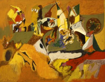 Arshile Gorky Golden Brown Painting 1943 44