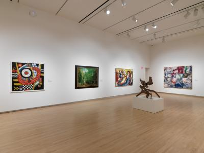 Installation view, Bernoudy Permanent Collection Gallery, 2017