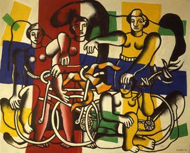 Fernand Léger, Les belles cyclistes (The Women Cyclists), 1944.