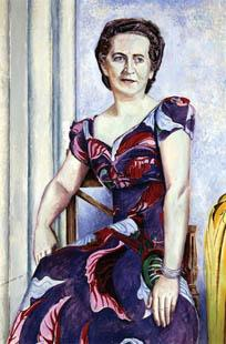 Wyndham Lewis, Portrait of Mrs. Ernest W. Stix, 1944.