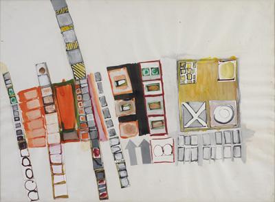 Eva Hesse, Untitled, 1963-64.