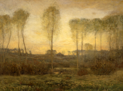 Dwight William Tryon, Before Sunrise (Morning Twilight, at Daybreak), 1906–7.