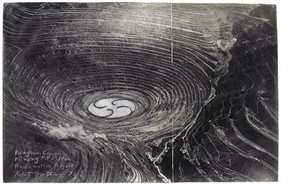 Robert Smithson, Bingham Copper Mining Pit—Utah Reclamation Project, 1973.